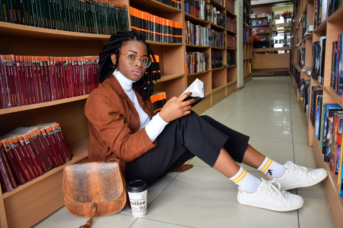 library photoshoot