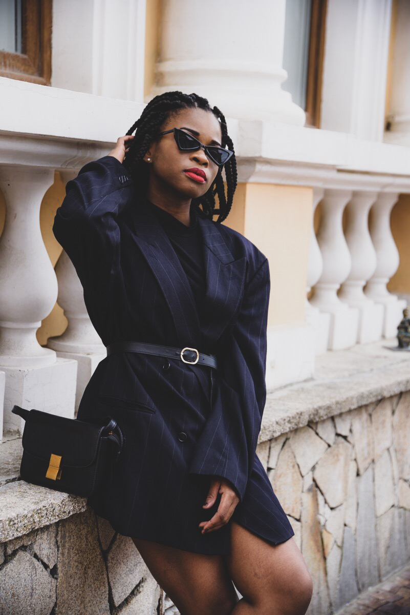 Styling black blazer dress