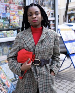 nigerian fashion blogger, belt on blazer